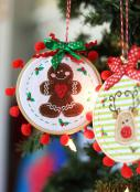 Happy Hoop Decor Volume 1 Whimsical Christmas Ornaments Machine Embroidery CD from KimberBell Designs 5