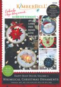 INVENTORY REDUCTION...Happy Hoop Decor Volume 1 Whimsical Christmas Ornaments Machine Embroidery CD from KimberBell Designs