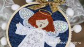 INVENTORY REDUCTION...Happy Hoop Decor Volume 2 Christmas Nativity Ornaments Machine Embroidery CD from KimberBell Designs 6