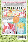Hoppy Easter Bench Pillow Embroidery CD from KimberBell Designs 1