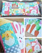 Hoppy Easter Bench Pillow sewing pattern from KimberBell Designs