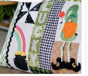 Luck O The Gnome Bench Pillow Machine Embroidery CD from KimberBell Designs 3
