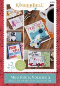 INVENTORY REDUCTION...Mug Rugs Volume 3 MACHINE EMBROIDERY CD from KimberBell Designs