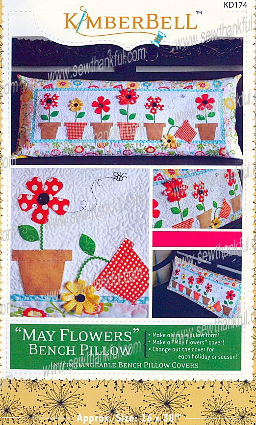 May Flowers Bench Pillow sewing pattern from KimberBell Designs