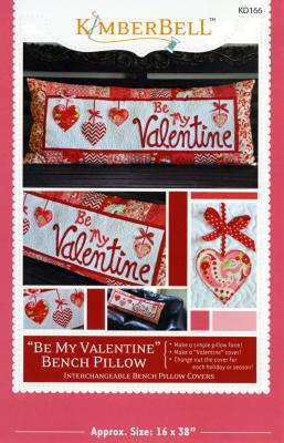 Be My Valentine Bench Pillow sewing pattern from KimberBell Designs