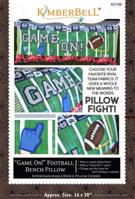 Game On! Football Bench Pillow sewing pattern from KimberBell Designs