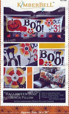 Halloween Boo! Bench Pillow sewing pattern from KimberBell Designs