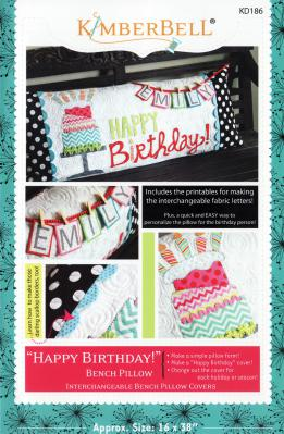 Happy Birthday Bench Pillow sewing pattern from KimberBell Designs