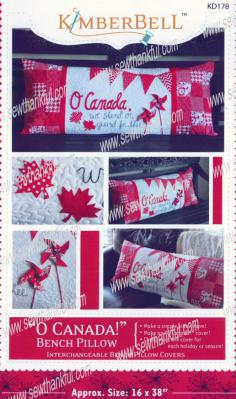 O Canada! Love Bench Pillow sewing pattern from KimberBell Designs