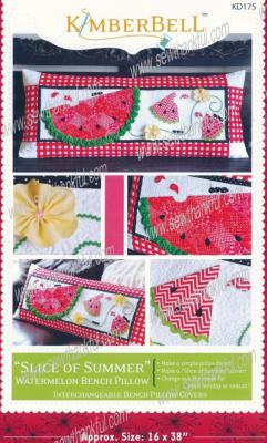 Slice Of Summer Watermelon Bench Pillow sewing pattern from KimberBell Designs