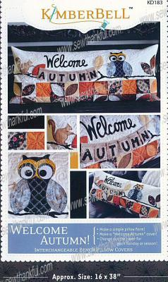 Welcome Autumn Bench Pillow sewing pattern from KimberBell Designs