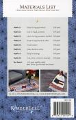 Americana Kitchen Table Runner & Tea Towels sewing pattern from KimberBell Designs 2