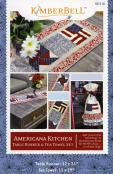 Americana Kitchen Table Runner & Tea Towels sewing pattern from KimberBell Designs