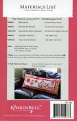 Be My Valentine Bench Pillow sewing pattern from KimberBell Designs 1