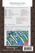 Game On! Football Bench Pillow sewing pattern from KimberBell Designs 2