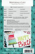 Happy Birthday Bench Pillow sewing pattern from KimberBell Designs 1