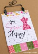 Mini Wall Hangings, Vol. 1 - The Happy Home (sewing & hand embroidery version) sewing pattern from KimberBell Designs 7