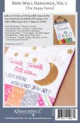 Mini Wall Hangings, Vol. 1 - The Happy Home (sewing & hand embroidery version) sewing pattern from KimberBell Designs 1