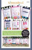 Mini Wall Hangings, Vol. 1 - The Happy Home (sewing & hand embroidery version) sewing pattern from KimberBell Designs