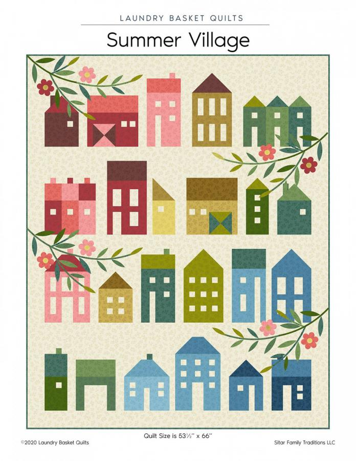 Summer Village quilt sewing pattern from Laundry Basket Quilts