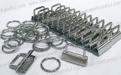 CLOSEOUT...Key Fob Hardware Party Pack (Bulk pack of 25 sets - contains 25 clamps, 25 split rings. Size 1 1/4