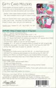 Gifty Card Holder sewing pattern Lazy Girl Designs 1
