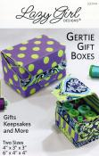 Gertie Gift Boxes sewing pattern Lazy Girl Designs