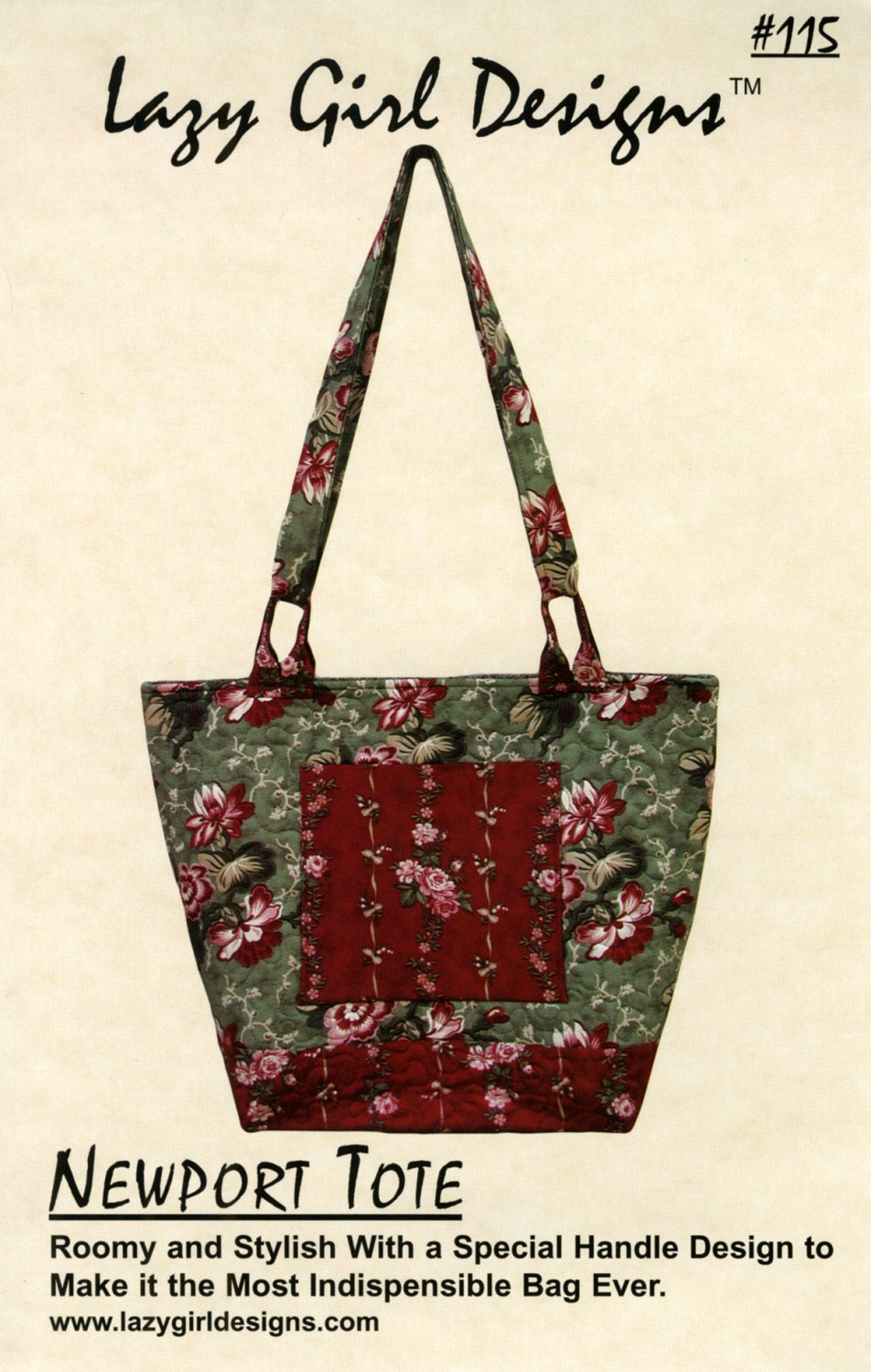 Newport Tote sewing pattern from Lazy Girl Designs