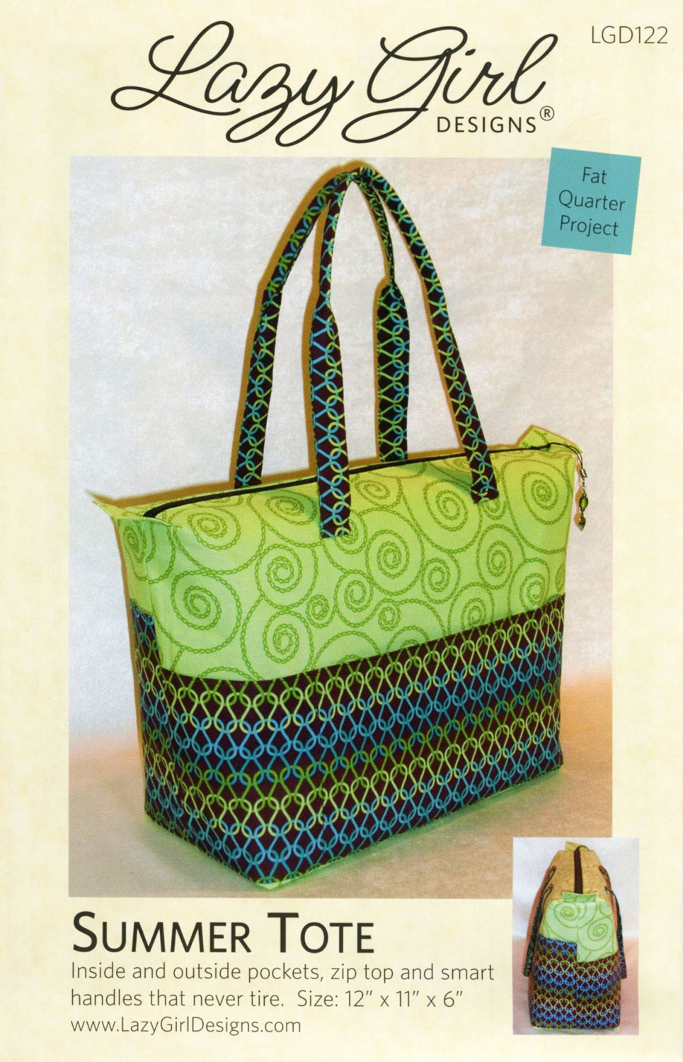 Summer Tote pattern from Lazy Girl Designs
