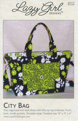City Bag sewing pattern from Lazy Girl Designs