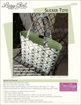 Slicker Tote sewing pattern from Lazy Girl Designs