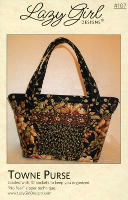 Towne Purse sewing pattern from Lazy Girl Designs