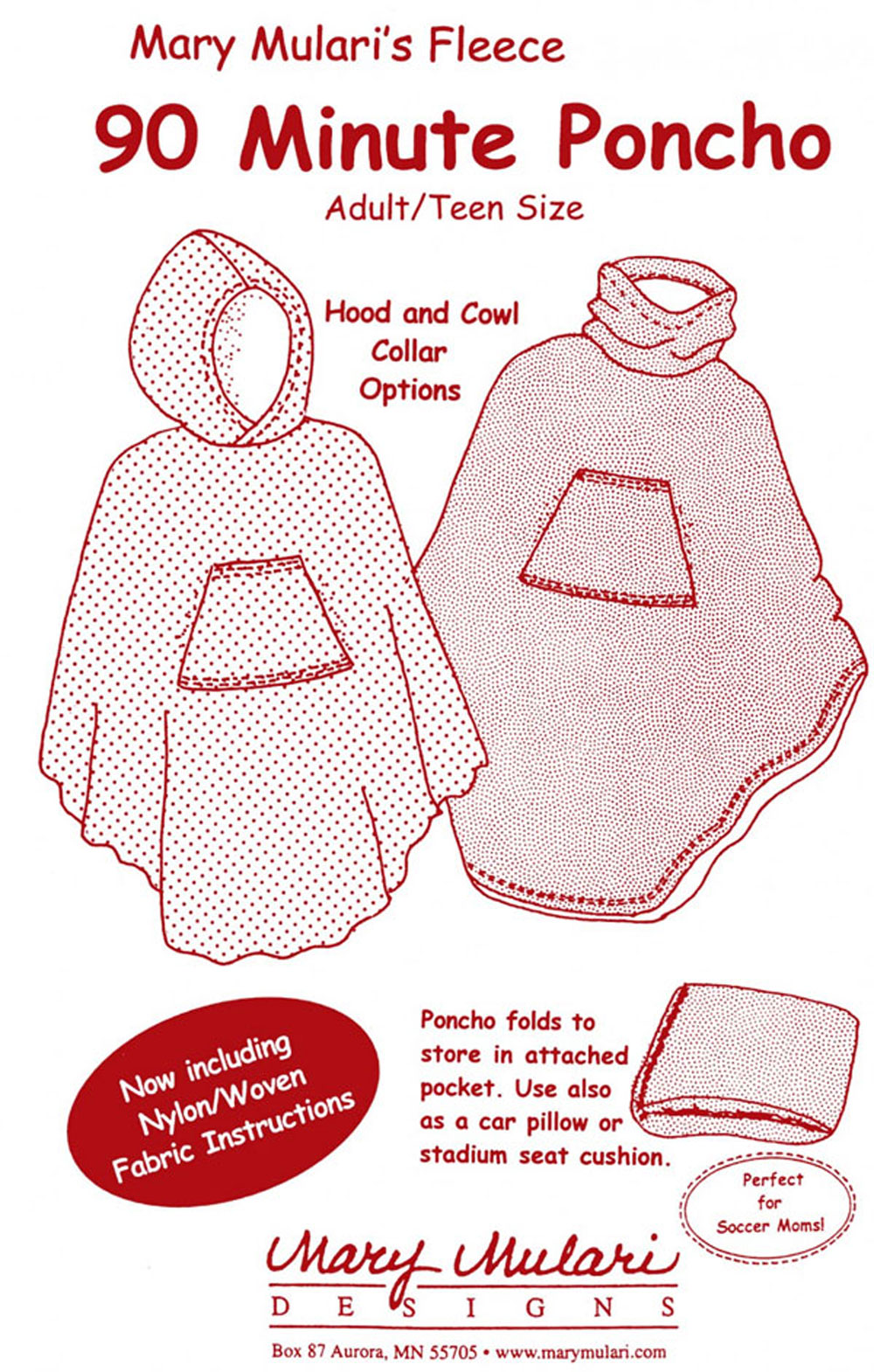 90 Minute Poncho for Adults and Teens sewing pattern from Mary ...