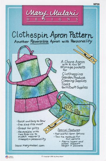 Clothespin Apron Pattern from Mary Mulari Designs