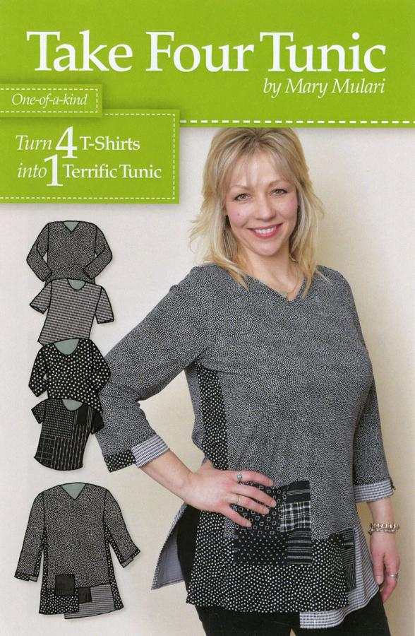 Take Four Tunic sewing pattern from Mary Mulari Designs