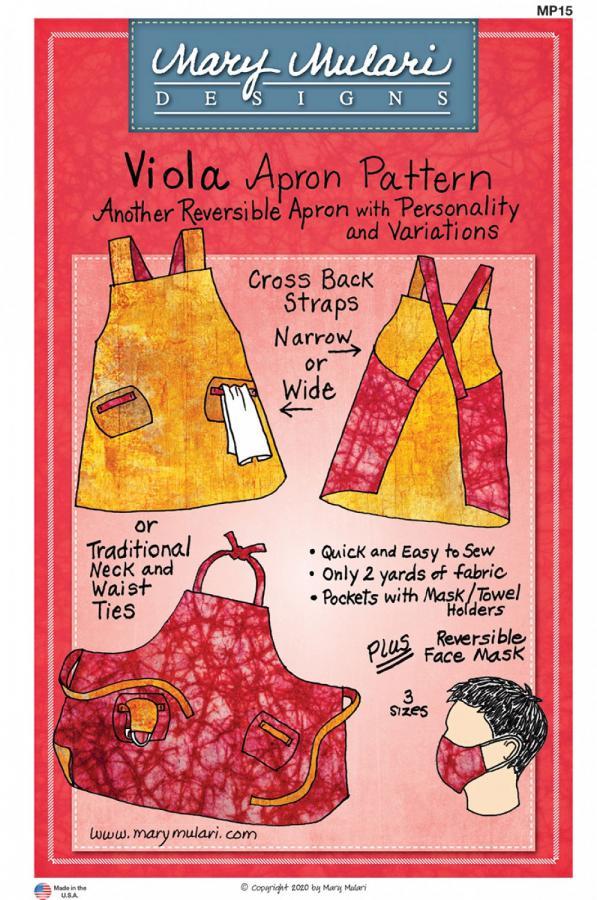 Viola Apron sewing pattern from Mary Mulari Designs