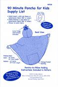 90 Minute Poncho for Kids sewing pattern from Mary Mulari Designs 2