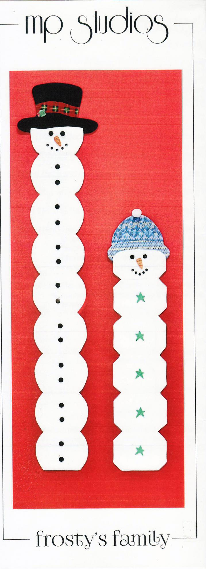 Frosty's Family wall hanging sewing pattern from Material Possessions Studios