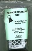 Miracle Chalk -- Miracle Marking Kit (complete with bag of chalk, Pounce & 3 Markers) 2