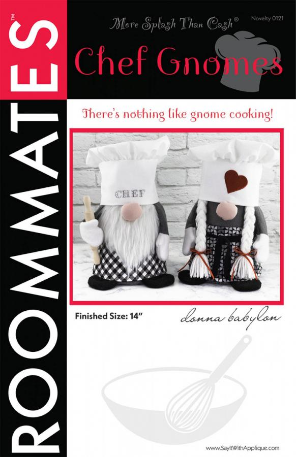 Chef Gnomes sewing pattern from More Splash Than Cash