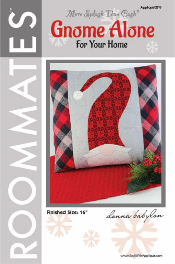 Gnome Alone For Your Home Pillow sewing pattern from More Splash Than Cash