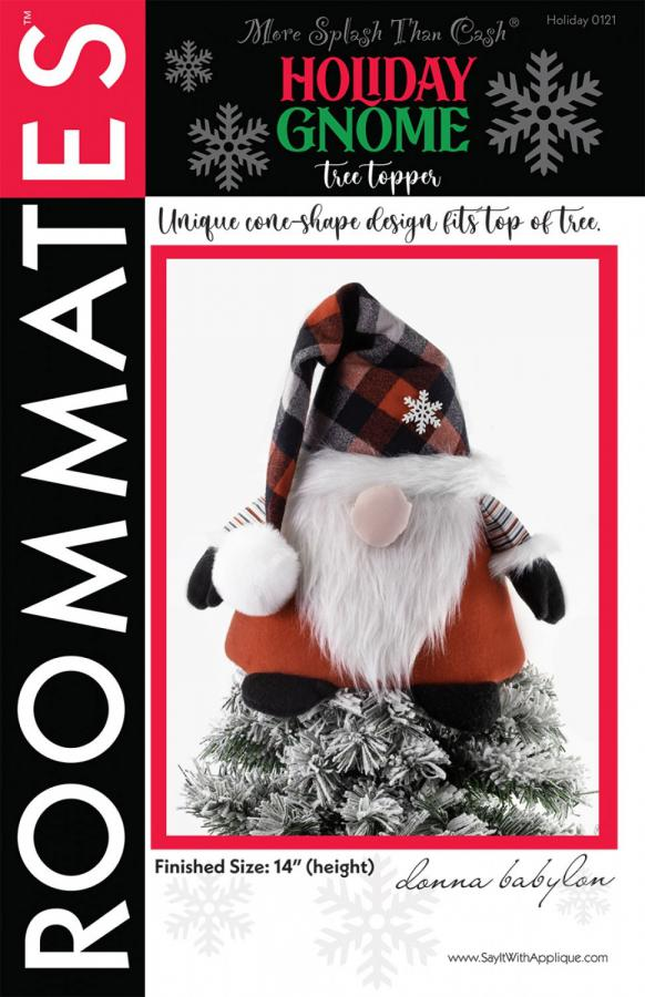 EARLY JINGLE BELL SPECIAL (expires 11:59PM ET on 10/20/21)...Holiday Gnome Tree Topper sewing pattern from More Splash Than Cash
