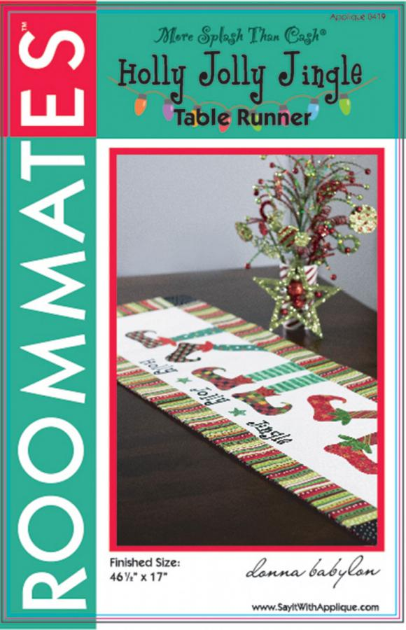 Holly Jolly Jingle Table Runner sewing pattern from More Splash Than Cash