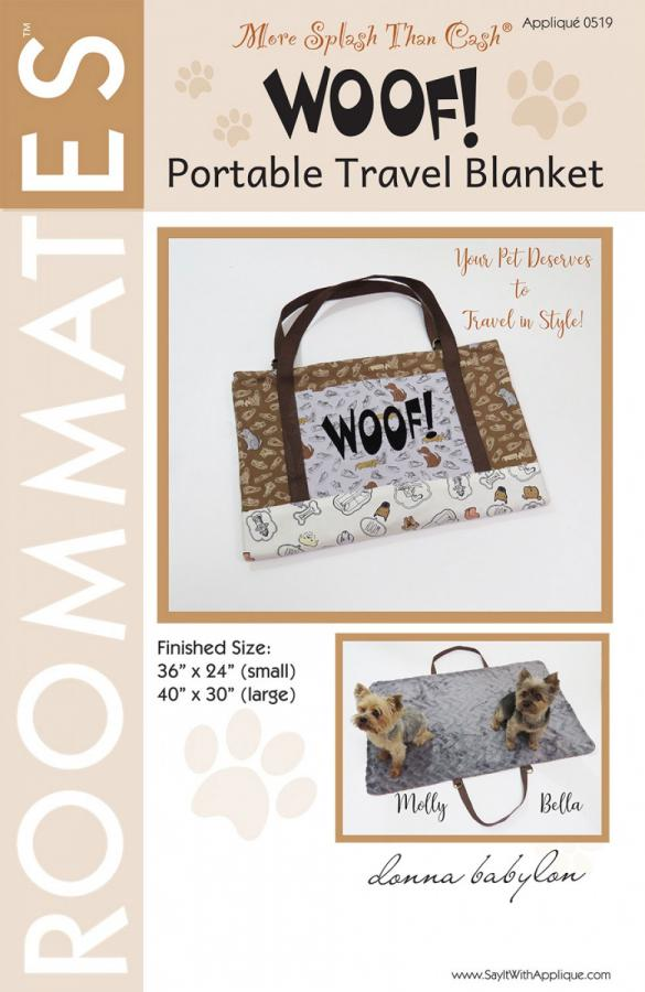 INVENTORY REDUCTION...Woof! Portable Dog Blanket sewing pattern from More Splash Than Cash