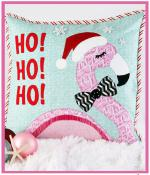 Fa-la-la-mingo Christmas Pillow sewing pattern from More Splash Than Cash 2