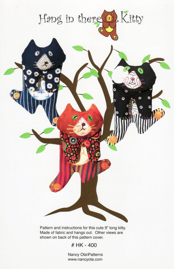 Hang In There Kitty sewing pattern from Nancy Ota