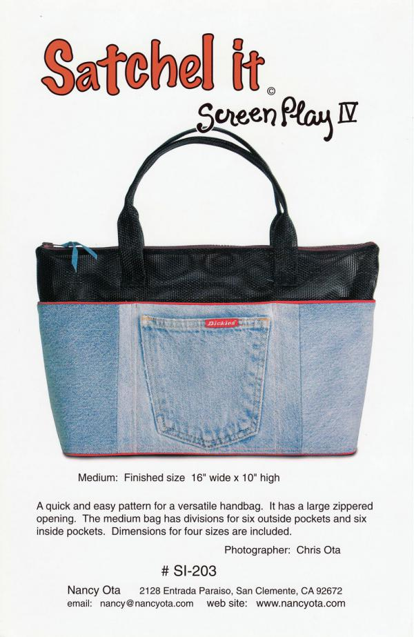 INVENTORY REDUCTION...Satchel It sewing pattern by Nancy Ota