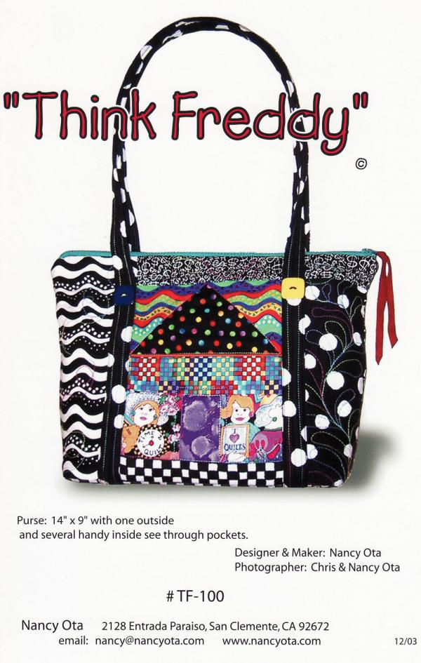 Think Freddy sewing pattern by Nancy Ota