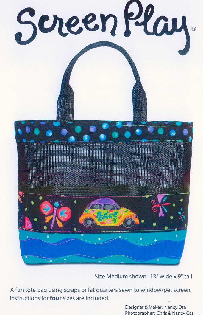 Screen Play bag sewing pattern