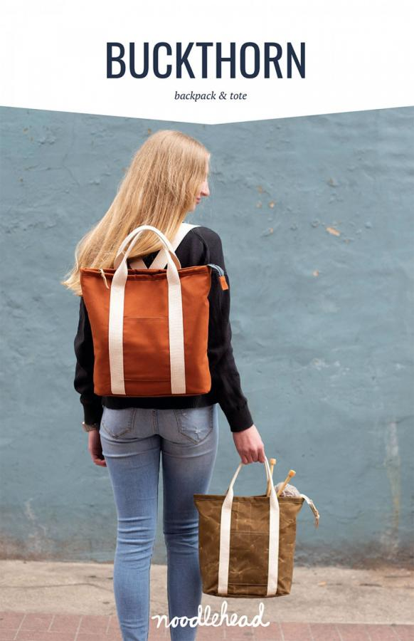 Buckthorn Backpack & Tote sewing pattern from Noodlehead
